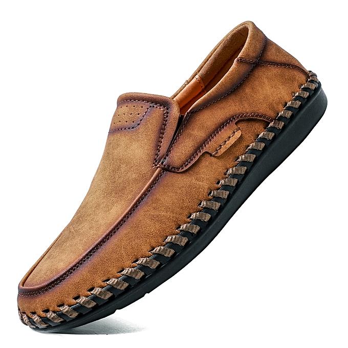 0b081c379eda EUR Size 38-46 High Quality Natural Leather Men Shoes Handmade Fashion  Casual Shoes Men