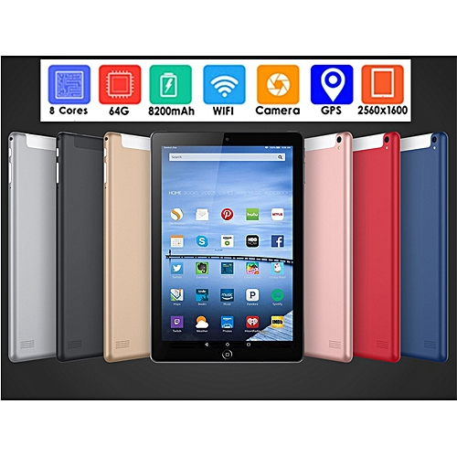 New 10.1'' 3G/4G Phone Call Android 7.0 8 Core 64GB Tablet With Home Key