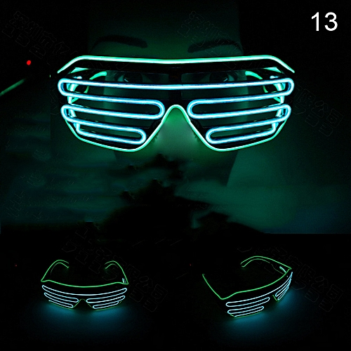 Shutter Double Color Flashing Glasses Voice Control LED Light Goggles For Party Bar TB Sale