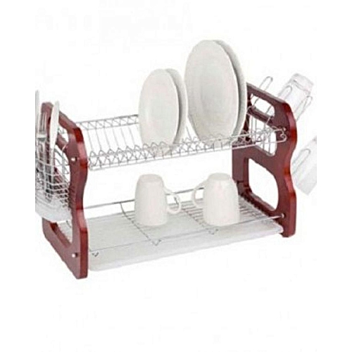 Wooden Dish/Plate Rack - 2 Tiers