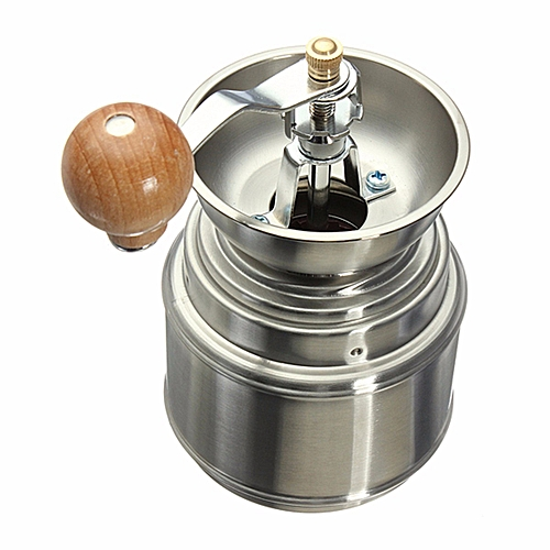 Stainless Steel Manual Spice Bean Coffee Grinder Burr Grinder With Ceramic Core
