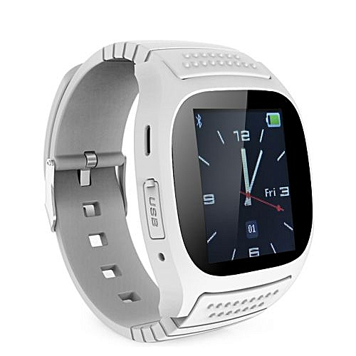 Smart Watches Bluetooth Wrist Watch Smart Watch With Dial SMS Remind Pedometer Smart Watches White