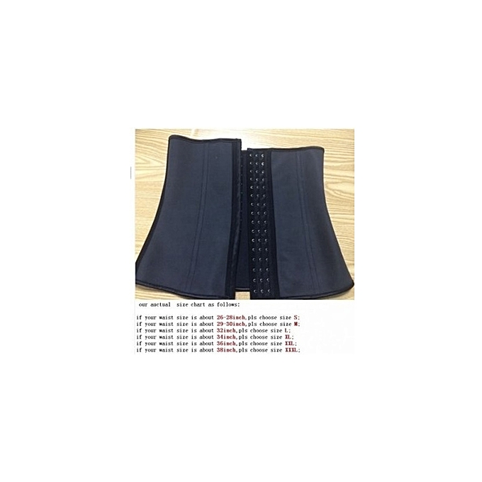 a49e6a1c22564 Fashion Latex Waist Trainer Cincher Corset - Black