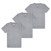 4e9964792d1 Pack Of 3 V-neck Plain T-shirts - Grey