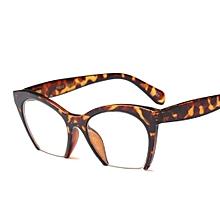 5e81f5bd19de Cat Eye Glasses Frames Optical Women Oversized Half Frame - Leopard