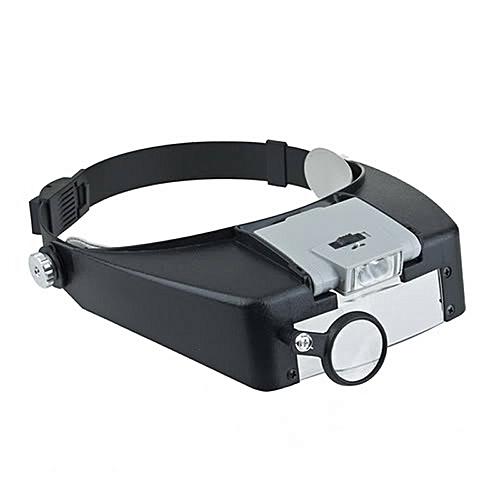 Illuminated Multipower LED Binohead Magnifier Headband Loupe MG81007-A1