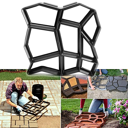 Driveway Paving Pavement Mold Patio Concrete Stepping Stone Path Walk Maker