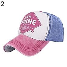 6026da1a040 Baseball Cap Letter Print Snapback Sports Hat (Red Blue)