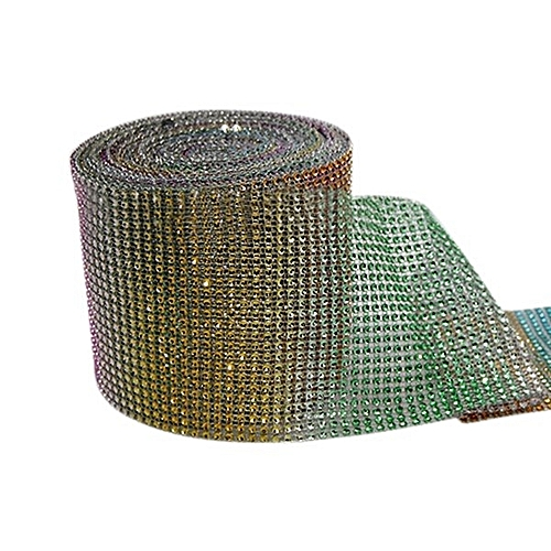 "4.75""x1 Yard Shiny Plastic Mesh Wrap Sparkle Ribbon Home Party Decor (Multicolor)"