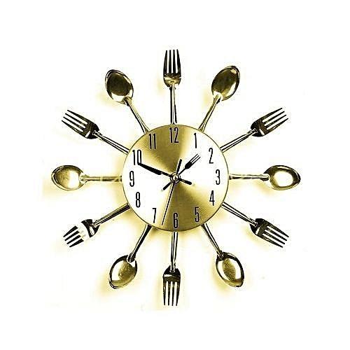 Cutlery Shaped Wall Clock -