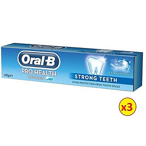 Pro Health Strong Teeth Herbal Mint Gel Toothpaste - 140g (Pack Of 3)