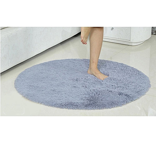 16inch Round Anti-Skid Fluffy Area Rug Dining Room Home Carpet Floor Mats Colorful