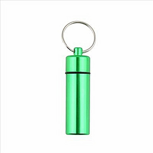 1/3/5Aluminum Waterproof Keychain Pill Box Case Medicine Bottle Container Holder
