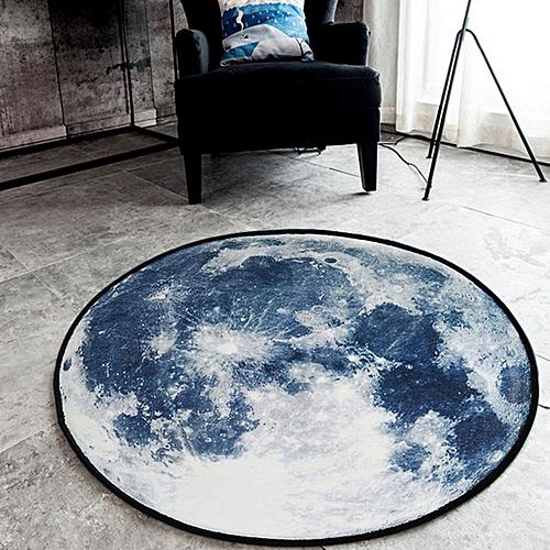Round Coral Soft Anti-Skid Area Rug Dining Room Home Carpet Floor Mat 60*60CM