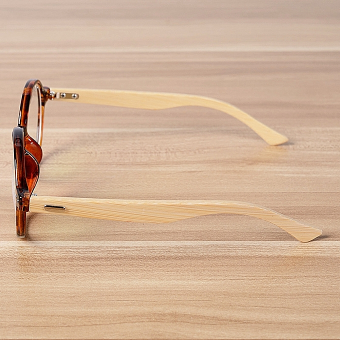 aedec164f7 ... Round Glasses Frame Clear Lens Optical Frames Vintage Eyeglasses Wooden  Bamboo Brown Leopard Eyewear Frames Spectacle ...