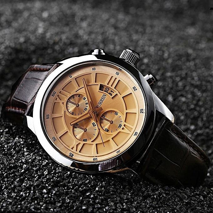 roman with product watches dial leather carson tissot strap s watch men black quartz mens white