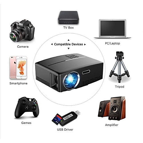 4K Portable LED 3D HD 1080P Home Theater LCD Mini Projector