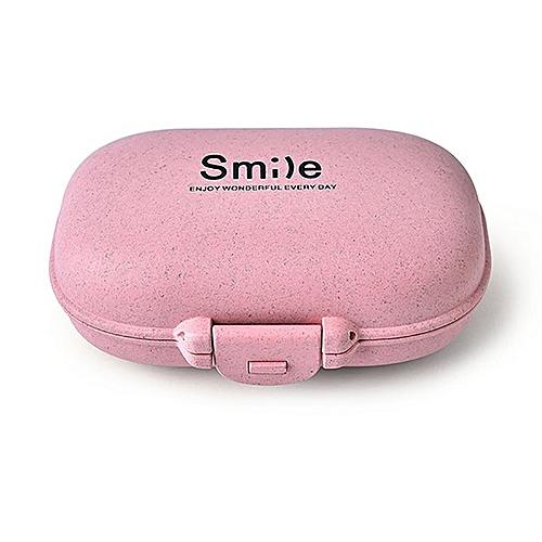 Pill Box Portable Travel Vitamin Case Storage Organizer Multiple Compartment Pink