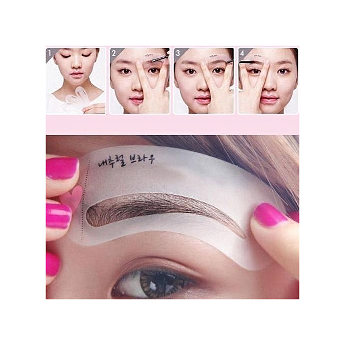 Fashion 3 Styles Brow Class Drawing Guide Eyebrow Template Make Up