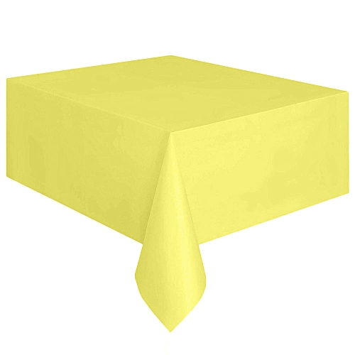 Watermalend Large Plastic Rectangle Table Cover Cloth Wipe Clean Party Tablecloth Covers