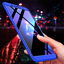 3 In 1 Ultra Thin And Slim Hard PC Case Anti-Scratches Premium Slim 360 Degree Full Body Protective Cover For Asus Zenfone Max Pro M1 ZB601KL / ZB602KL  (Blue)