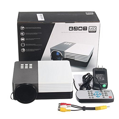 1080P HD Portable Mini LED 3D Projector Lumens Home Theater