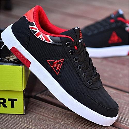 Men Canvas Shoes - Black&Red