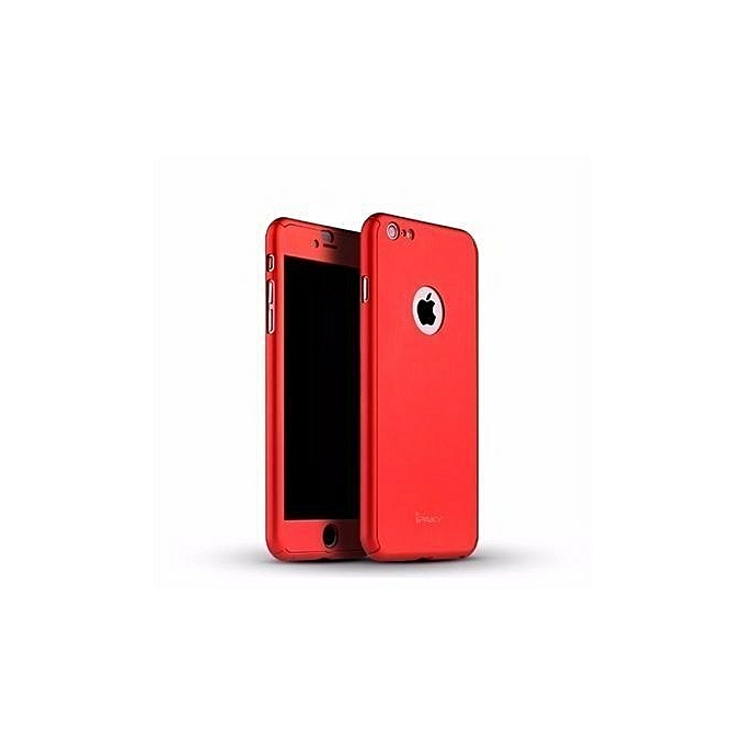 new products 832b5 b3f0e IPhone 5/5S/SE Full Armor 360 Protective Case With In-built Tempered Glass-  Red