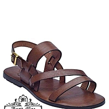 b52bfd49be9352 Men Unique Brown Sandal