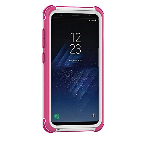 Galaxy S8 Plus Waterproof Case, Water/Dirt/Shock Proof Floating Full-covered Protective Case For Samsung Galaxy S8 Plus, White+Pink