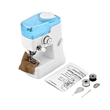 Multifunction Mini Electric Sewing Machine LED Light Sewing Hand Overlock Double Thread Sewing Machine With Concealed Drawer for sale  Nigeria
