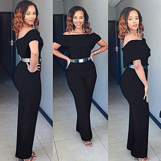 dc099c0b880e Women Ladies Clubwear Summer Playsuit Bodycon Party Jumpsuit Romper  Trousers Black
