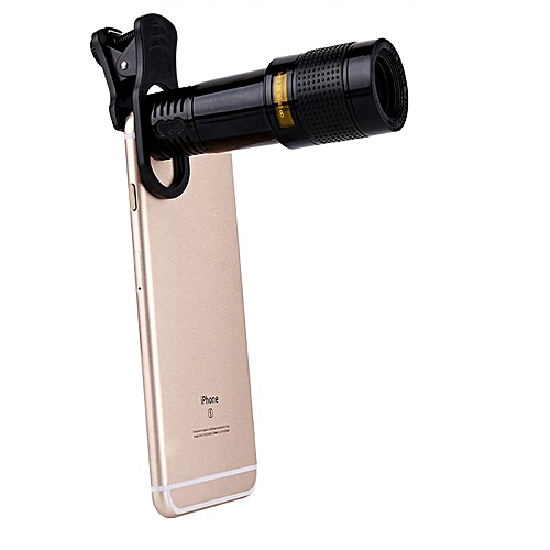 12X Set Lens Universal Mobile Phones Clip Wide-Angle Telescopes General HD Wide-Angle Telephoto Lens
