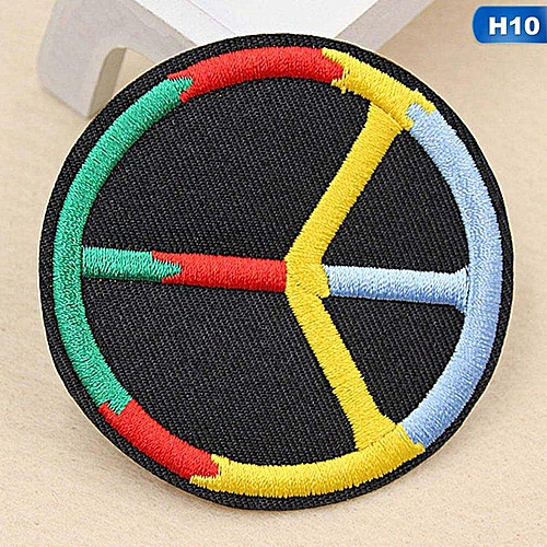 Eleganya Fashion Circular Creativity Exquisite Cute Style Embroidery Cloth Stickers H10