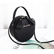e213022dfeb Women Round Sling Bag Shoulder Bag Small Round Bags-Black