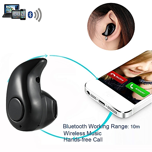 S530 Invisible 4g Earphone Bluetooth 4.1 Headphones In-ear Headset Stereo Music Earphone Smart Phone Earbuds Hands-free With Microphone Black