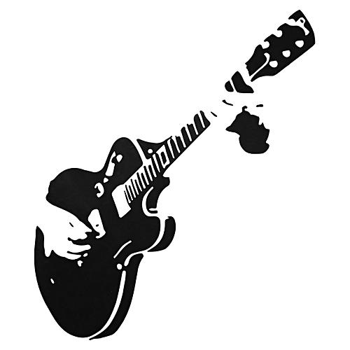 Guitar Wall Sticker Guitarist Music Removable Decal Home Mural Decor Wallpaper