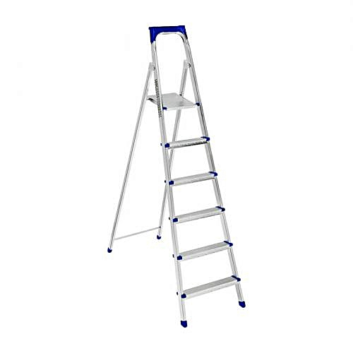 6 Step Comfortable Standing Platform Ladder
