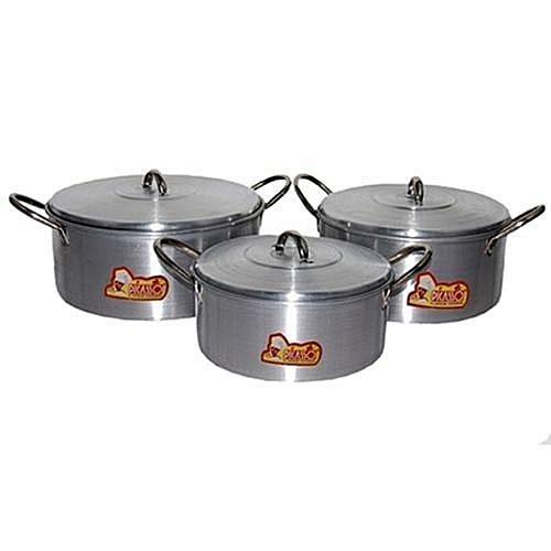 Cooking Pot Set - 3 Pcs