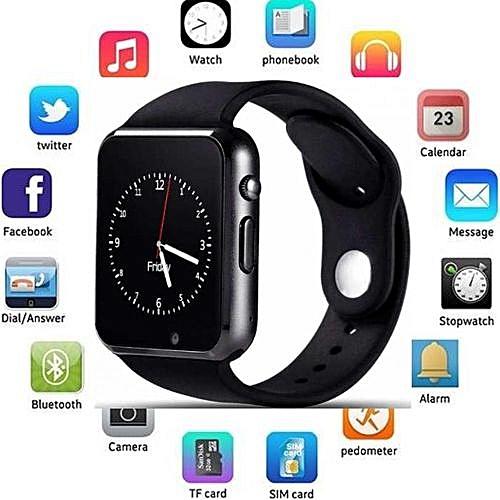Wrist Watch Phone; Digital Smart Watch; Latest Smart Watch; Intelligent Watch; Smart Mobile Watch; Best Looking Smartwatch; Smart Wrist Watch; Smart Watches For Men, Women; Black Smart Watch