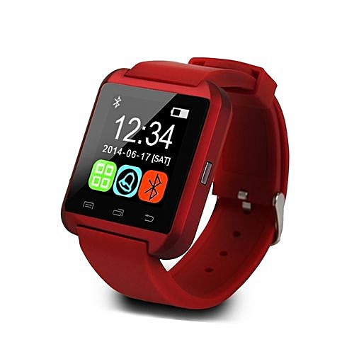 U8s Smart Bluetooth Watches Pedometer Wrist Watches For Android Sport Office Use_Black/Red/White