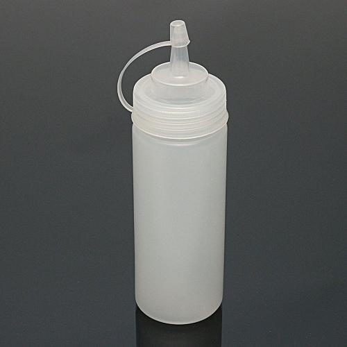 Plastic Squeeze Condiment Dispenser Sauce Ketchup Cruet Oil Bottles 8oz