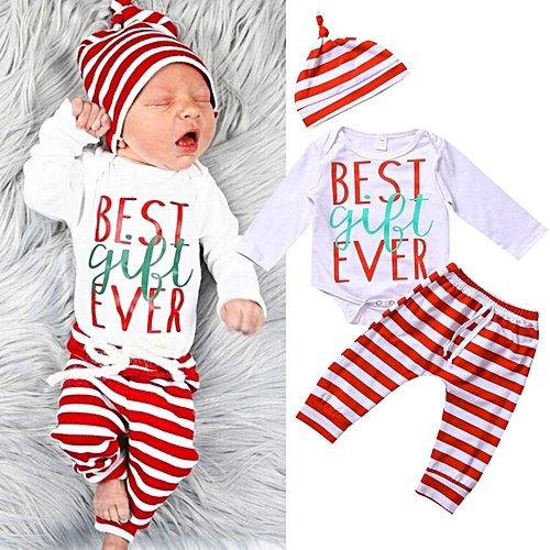 76198cf737ac Fashion 3PCS Set Newborn Toddler Baby Boys Girls Clothes Romper ...