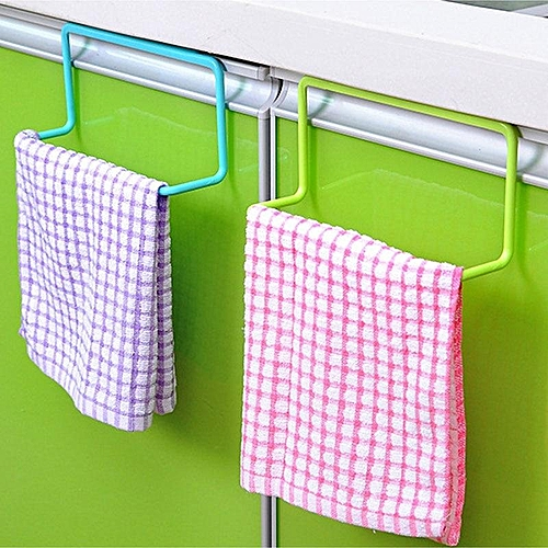 Kitchen Organizer Towel Rack Hanging Holder Bathroom Cabinet Cupboard Door Back Hanger Kitchen Supplies Accessories Cocina 5 Pcs - Blue