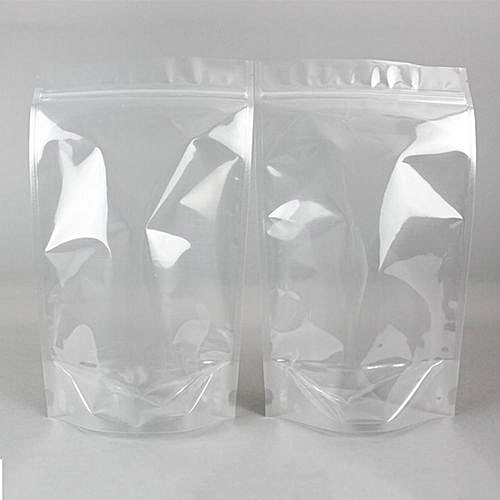 100pcs Transparent Resealable Stand Up Ziplock Food Pouch Packaging
