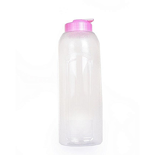 Transparent Water Bottle - Pink