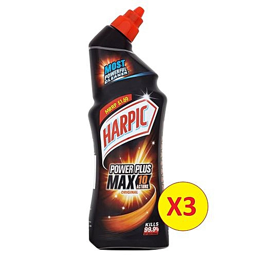 Power Plus Max 10 Toilet Cleaner 750ml Pack Of 3