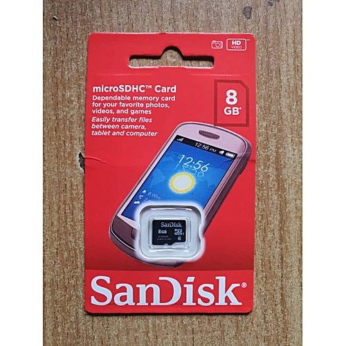 8GB Memory Card Class 4 Micro SD