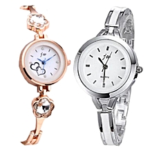 3796f1683301 2-in-1 Diamond Studded Tiny Bracelet Strap Small Face Watch For Female-