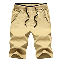 Mens Casual Pants Baggy Shorts Pockets Cargo Short Trousers Khaki 8de03c8d4b